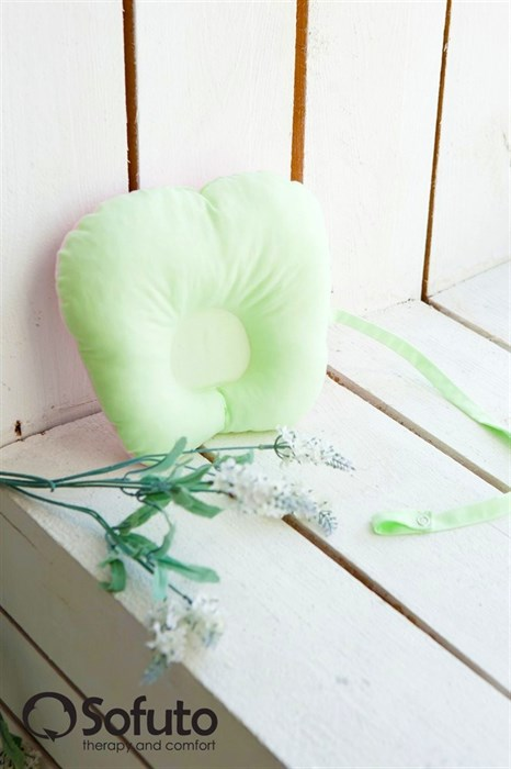 Подушка для новорожденного Sofuto Baby pillow Greeny - фото 5316