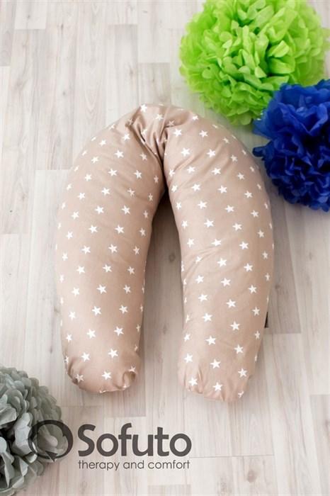 Чехол на подушку для беременных Sofuto ST Stars Latte - фото 5590