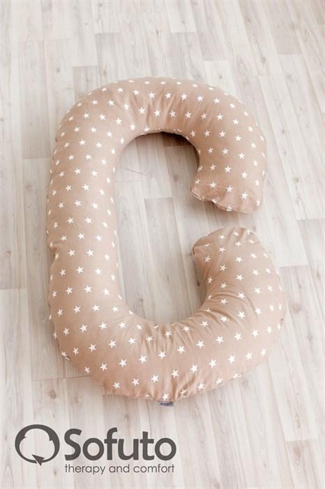 Подушка для беременных Sofuto CСompact Stars Latte - фото 5639