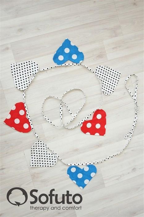 Гирлянда из ткани Sofuto Heart Minnie dots - фото 5693
