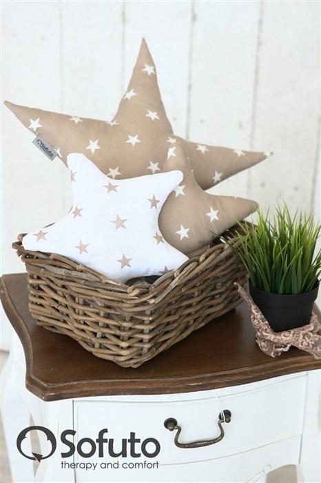Набор декоративных подушек Sofuto Stars Latte - фото 5699