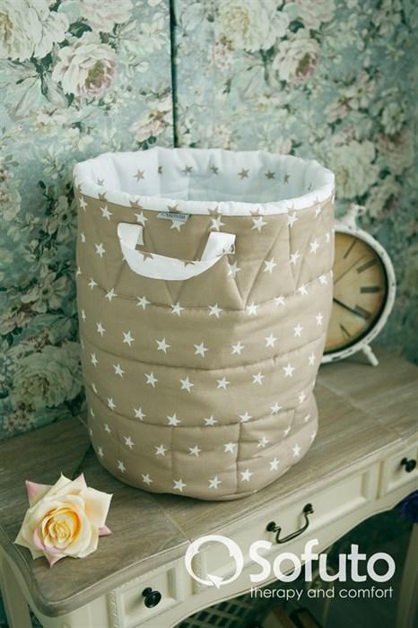 Большая корзина для игрушек Sofuto Latte - фото 5799