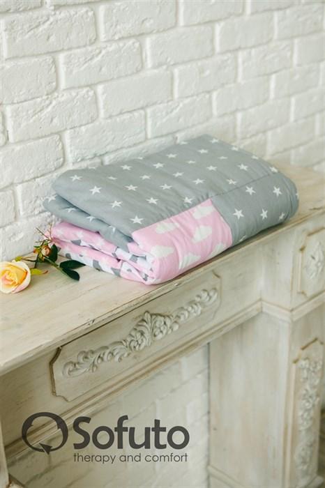 Одеяло стеганное Sofuto Babyroom Rose ashes patchwork - фото 5901
