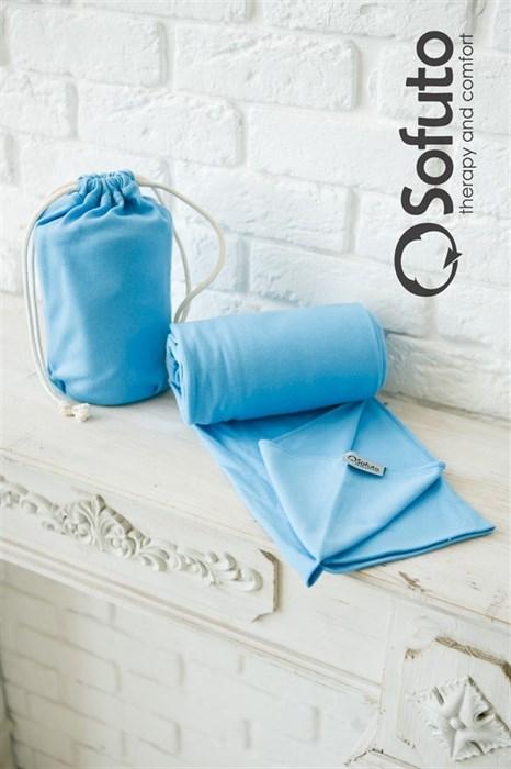 Слинг-шарф трикотажный Sofuto Babysling blue - фото 5944