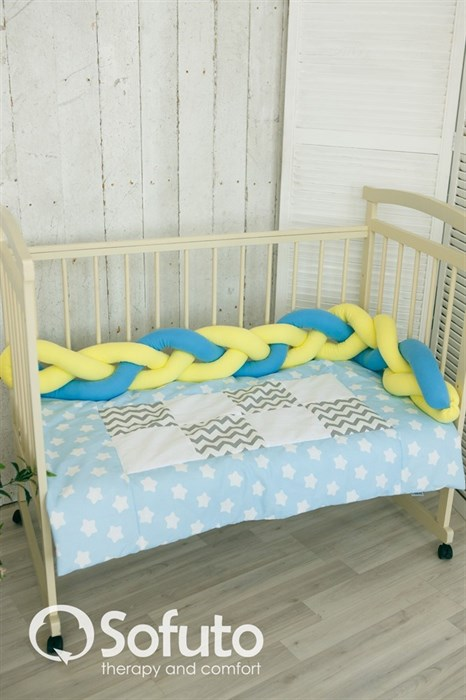 Бортик коса Sofuto Babyroom yellow and blue - фото 5971