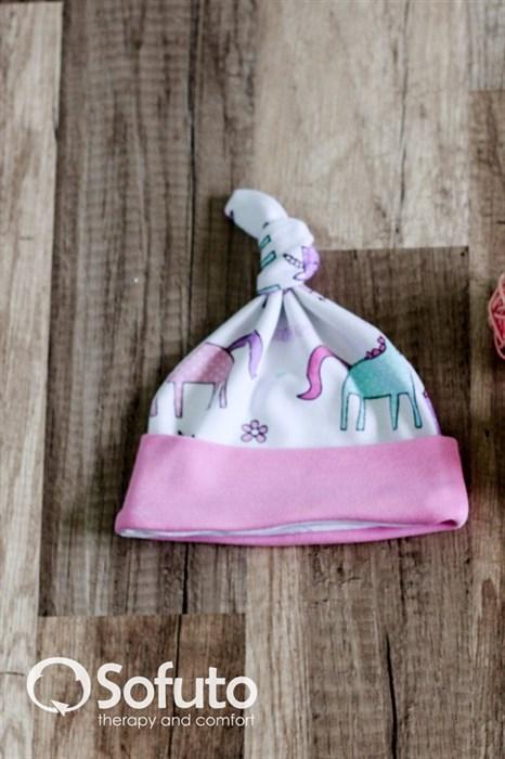 Шапочка узелок Sofuto Baby unicorn - фото 6073