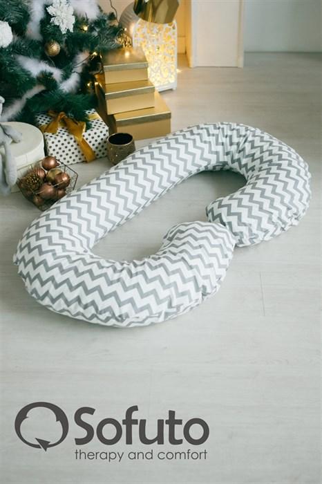 Подушка для беременных Sofuto CСompact Silver waves - фото 6136