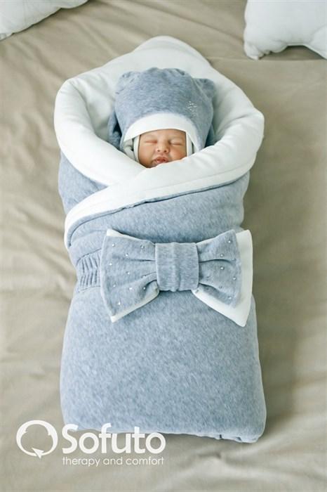 Комплект на выписку зимний (7 предметов) Sofuto baby Grey simple - фото 6210