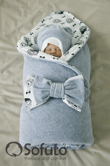 Комплект на выписку зимний (7 предметов) Sofuto baby Grey bears - фото 6254
