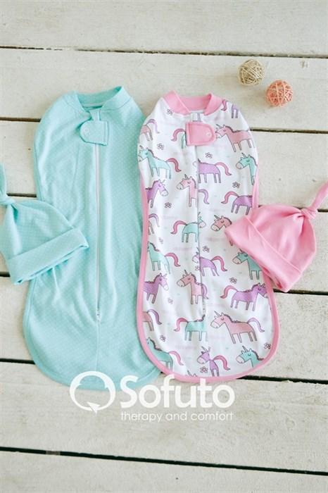 Комплект пеленок Sofuto Swaddler tiffany - фото 6408