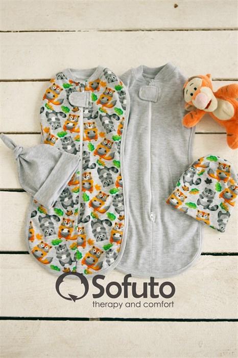 Комплект пеленок Sofuto Swaddler Kroshka Enot - фото 6445
