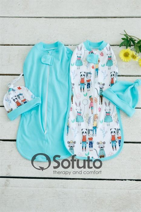 Комплект пеленок Sofuto Swaddler Zootopia - фото 6737