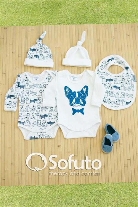 Комплект боди (5 предметов)  Sofuto baby dogs - фото 6854