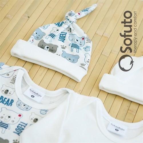 Комплект боди (4 предмета) Sofuto baby teddy - фото 6863