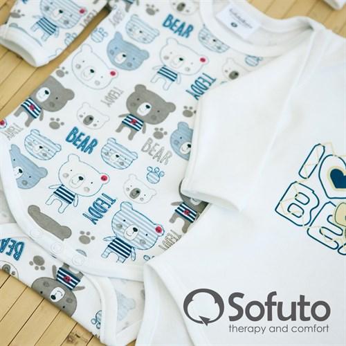 Комплект боди (4 предмета) Sofuto baby teddy - фото 6864