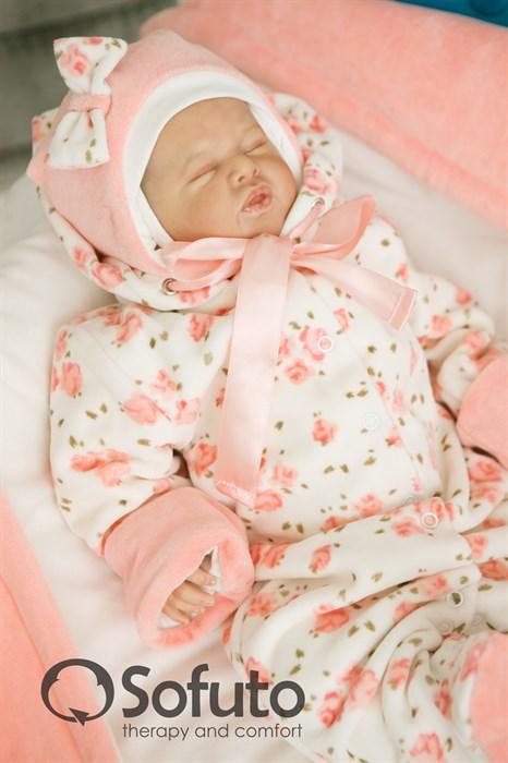 Комплект на выписку демисезонный (7 предметов) Sofuto baby Tea rose - фото 6879