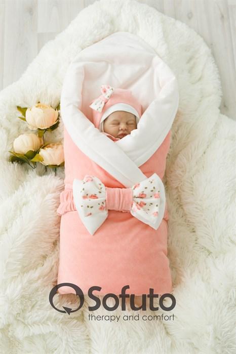 Комплект на выписку демисезонный (7 предметов) Sofuto baby Tea rose - фото 6882