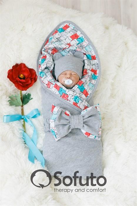 Комплект на выписку жаркое лето (5 предметов) Sofuto baby Kotyki - фото 7284