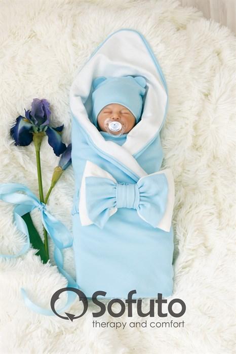 Комплект на выписку жаркое лето (5 предметов) Sofuto baby Blue simple - фото 7306