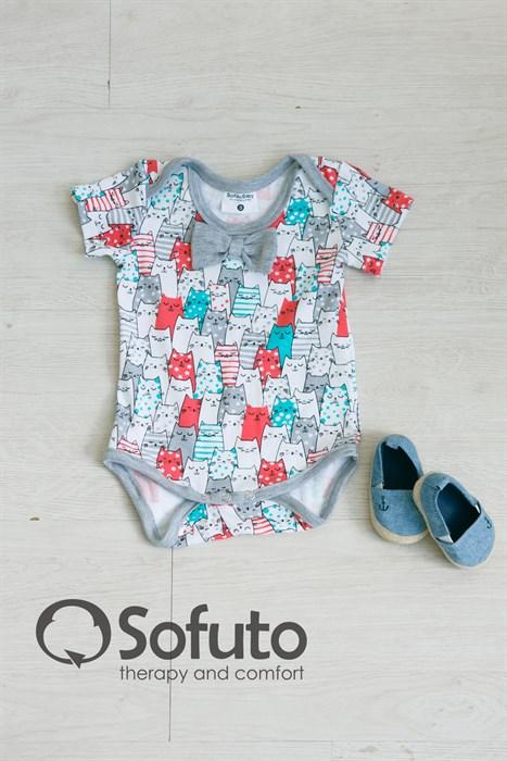 Боди детское Sofuto baby Kotyki - фото 7373