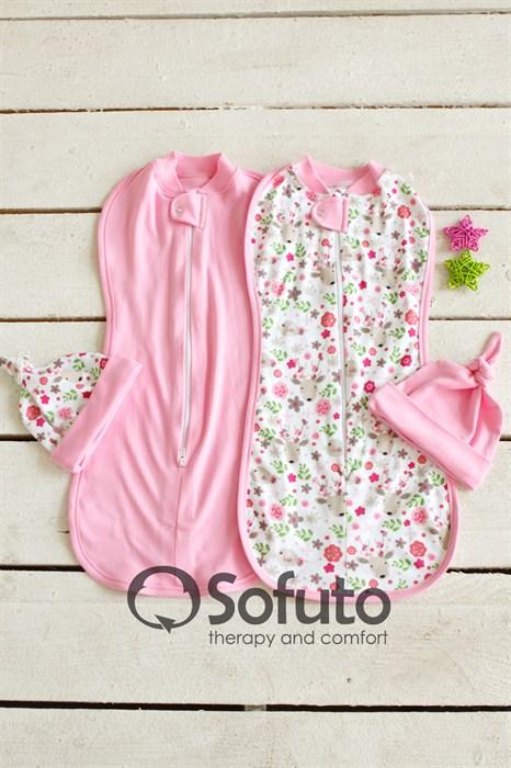 Комплект пеленок Sofuto Swaddler Flowers - фото 7560