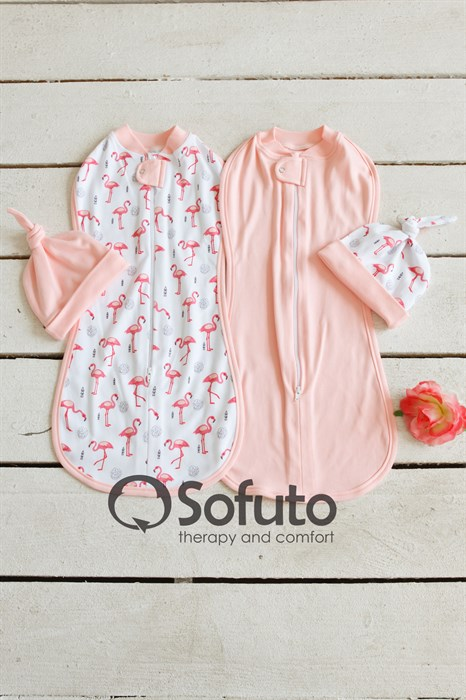 Комплект пеленок Sofuto Swaddler Flamingo - фото 7571