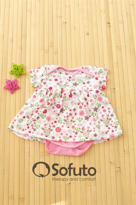 Боди детское с юбочкой Sofuto baby Flowers - фото 7597