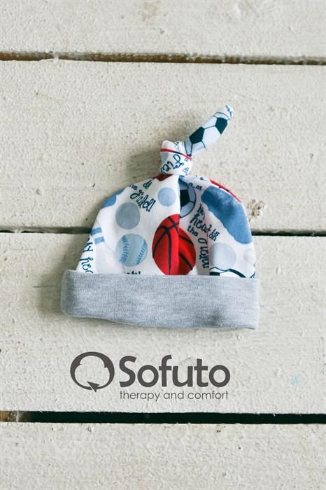 Шапочка узелок Sofuto Baby Football - фото 7720