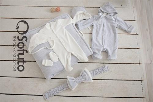 Комплект на выписку демисезонный (7 предметов) Sofuto baby Light grey - фото 7756