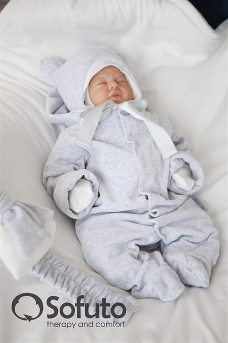 Комплект на выписку демисезонный (7 предметов) Sofuto baby Light grey - фото 7757