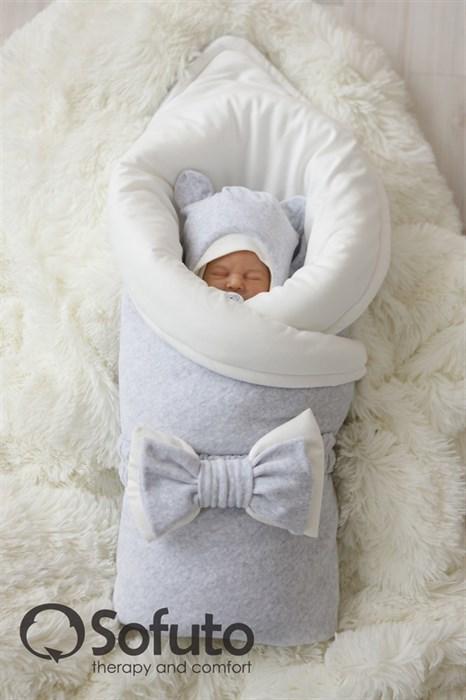 Комплект на выписку демисезонный (7 предметов) Sofuto baby Light grey - фото 7758