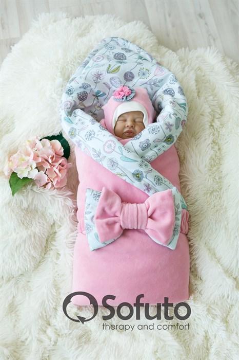 Комплект на выписку демисезонный (7 предметов) Sofuto baby Puffi - фото 7871