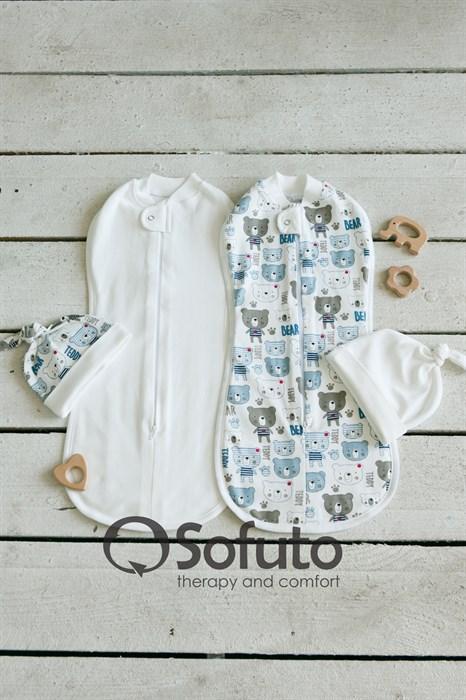 Комплект пеленок Sofuto Swaddler Teddy - фото 7942