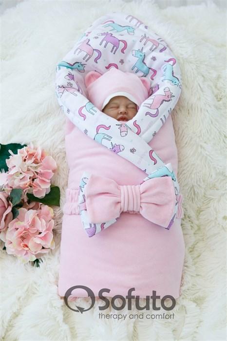 Комплект на выписку зимний (7 предметов) Sofuto baby unicorn - фото 8163