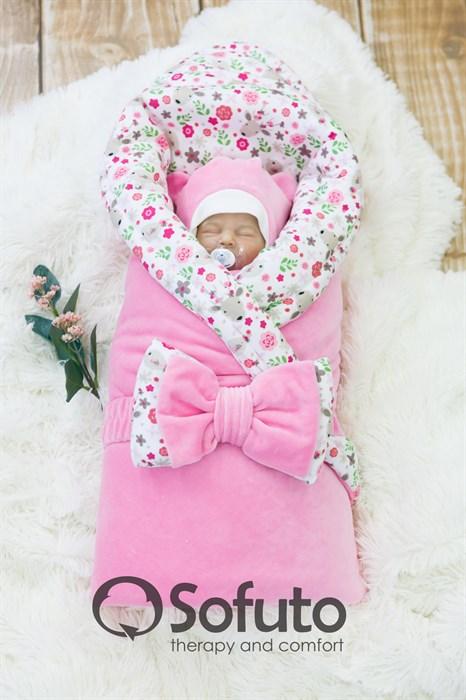 Комплект на выписку зимний (7 предметов) Sofuto baby Fowers - фото 8308
