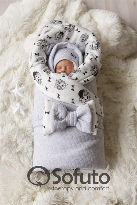 Комплект на выписку холодная зима (7 предметов) Sofuto baby Mr Bear - фото 8422