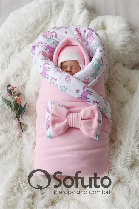 Комплект на выписку холодная зима (7 предметов) Sofuto baby unicorn - фото 8430
