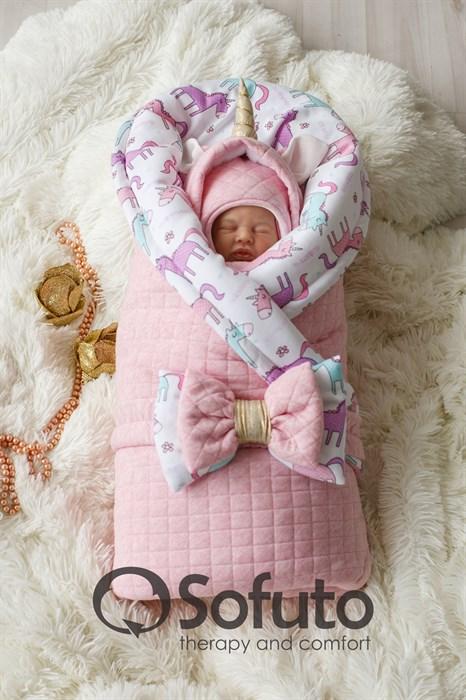 Комплект на выписку холодная зима (7 предметов) Sofuto baby Magic unicorn - фото 8454