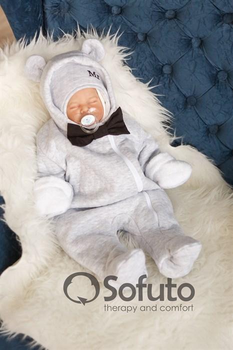 Комбинезон утеплённый на молнии Sofuto baby Mr Bear - фото 8516