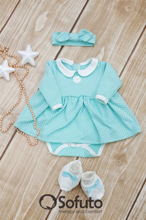 Комплект из боди-платья  с аксессуарами Sofuto baby Tiffany - фото 8549