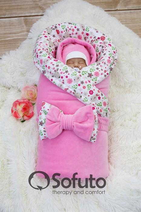 Комплект на выписку холодная зима (7 предметов) Sofuto baby Flowers - фото 8854