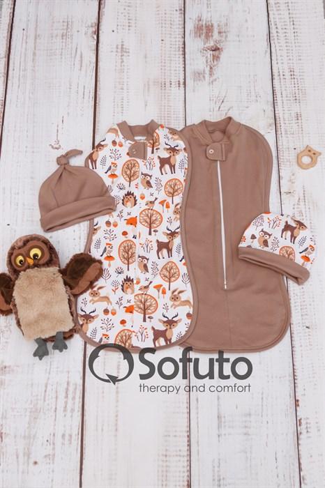 Комплект пеленок утепленный Sofuto Swaddler Forest animals - фото 9039
