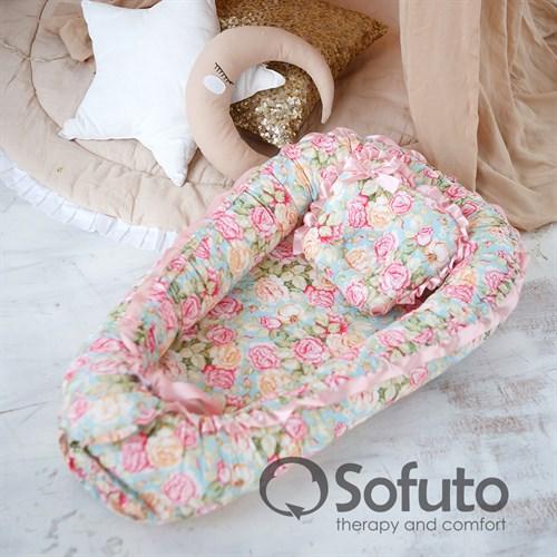 Кокон-гнездышко Sofuto Babynest rococo - фото 9771