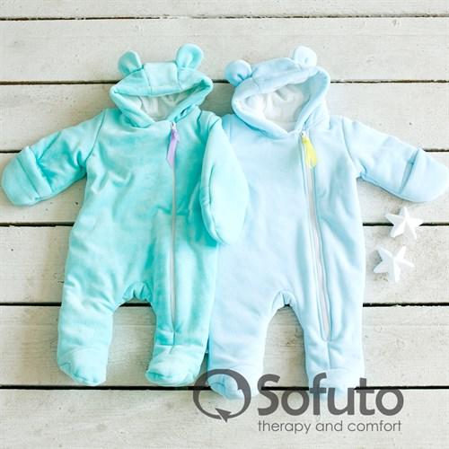 Комбинезон велюровый утеплённый на молнии Sofuto baby Osito - фото 9950