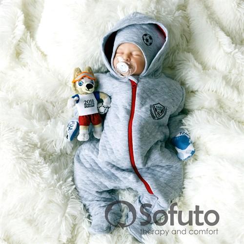 Комбинезон стеганый на молнии Sofuto baby Football - фото 9954