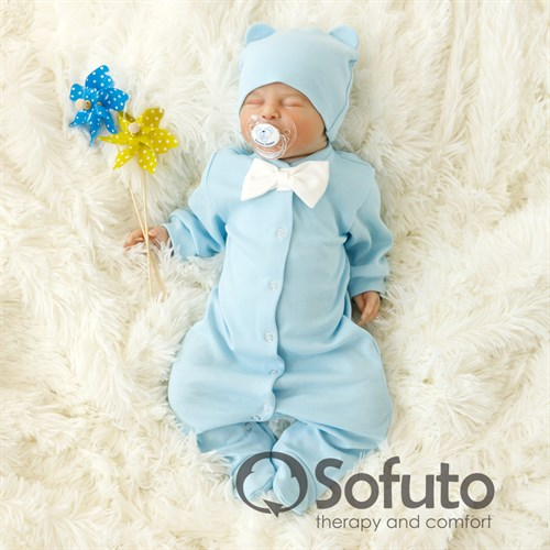 Слип на кнопках Sofuto baby Blue simple - фото 9984