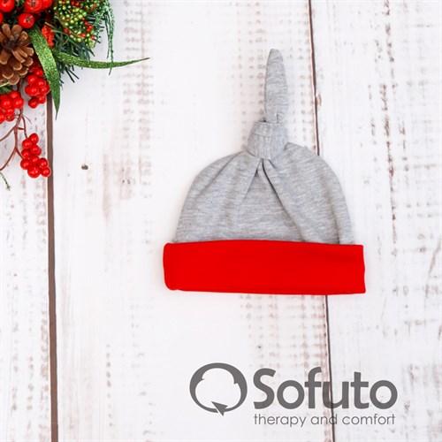Шапочка узелок Sofuto Baby new year Gray - фото 9991