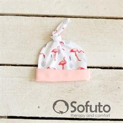 Шапочка узелок Sofuto Baby Flamingo