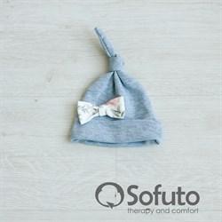 Шапочка узелок Sofuto Baby Vintage gray