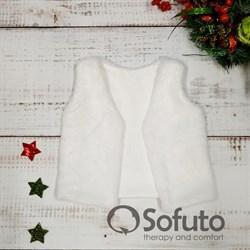 Меховой жилет Sofuto baby white